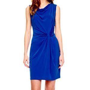 Michael Kors Blue Twist Knot Jersey Dress size Med